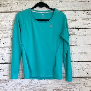 Adidas Teal Blue Long Sleeve Top